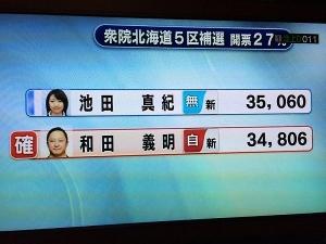 負けてるのに和田当確?