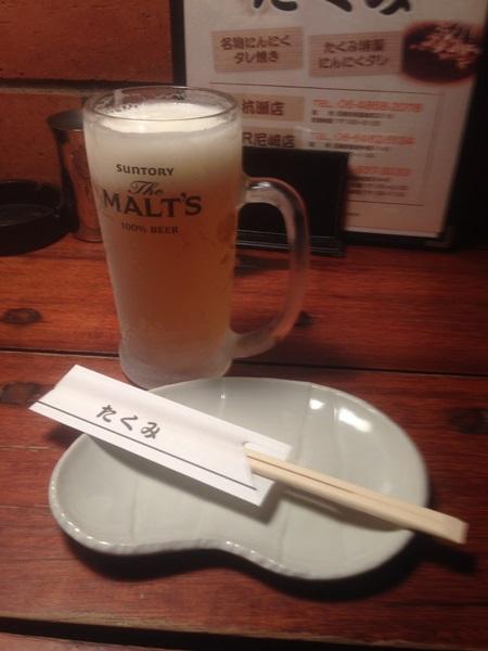 t-01生ビール