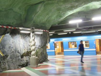 1 ストックホルム (151) 地下鉄駅構内2