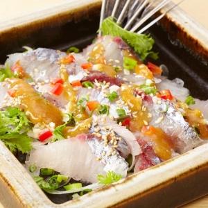 201603-_咲_飛魚梅味噌たたき