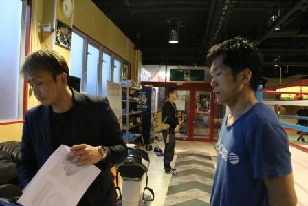 写真⑥川口と本石会長