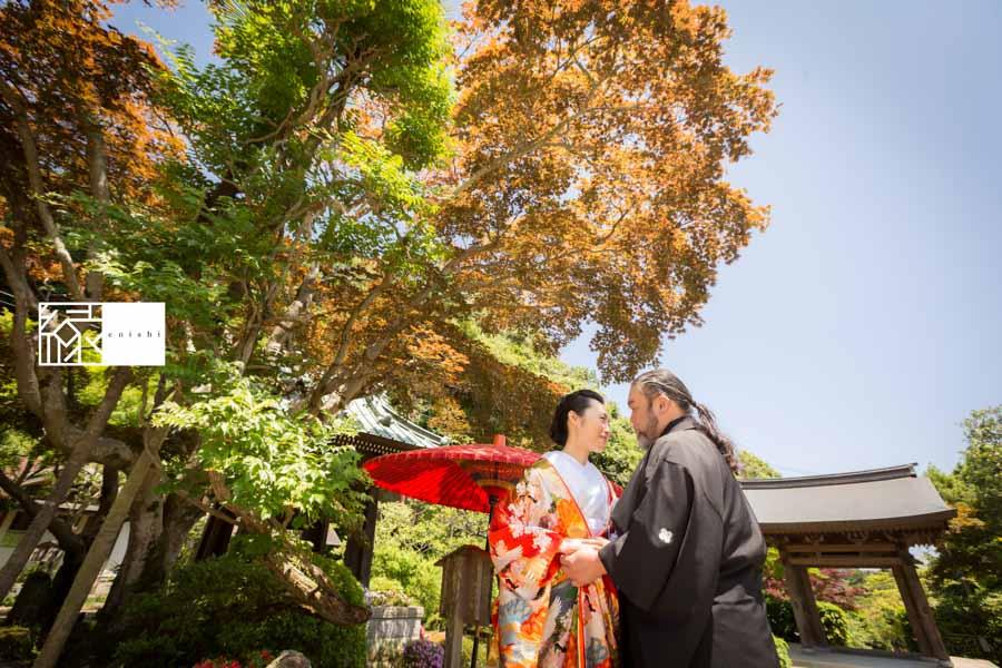 フォト婚和装鎌倉縁14