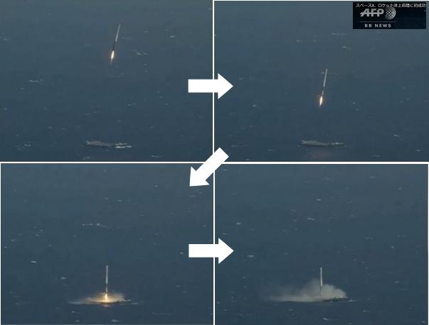 ロケット洋上着陸成功