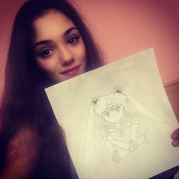 エフゲーニャ・メドベデワ自筆のイラスト