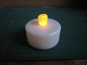 ロウソク照明の先端カット