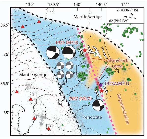 2つに裂けながら首都圏下に沈み込むフィリピン海プレート(「地学雑誌」2013年から)