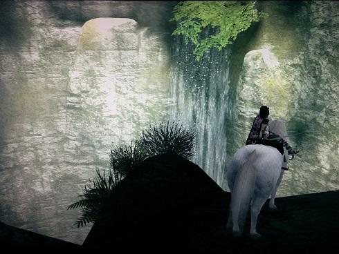 8体目へ向かう途中の滝