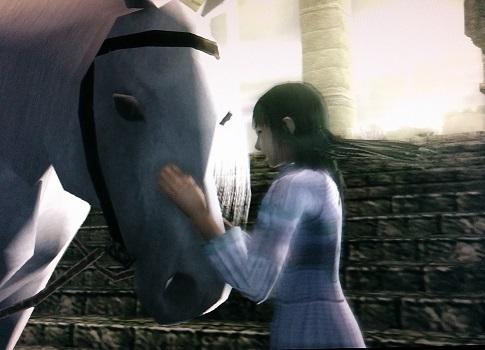 少女と白馬のアグロ