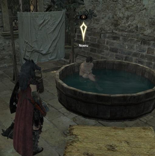 風呂に入るノエル