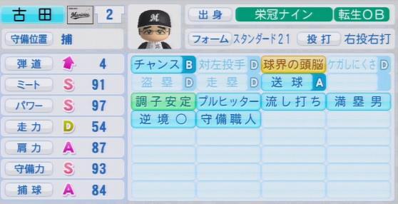 実況パワフルプロ野球2016 栄冠ナイン 古田敦也・最終データ
