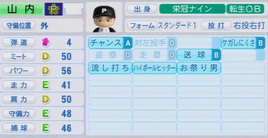 実況パワフルプロ野球2016 栄冠ナイン 山内一弘 入学時