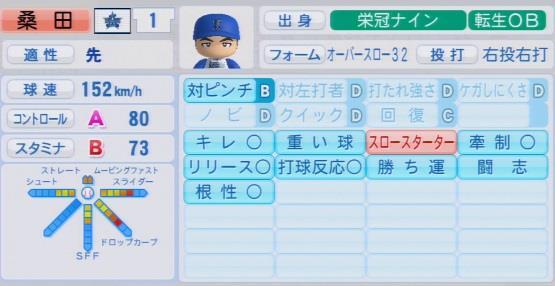 実況パワフルプロ野球2016 栄冠ナイン桑田真澄最終データ