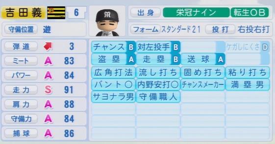 実況パワフルプロ野球2016 栄冠ナイン吉田義男最終データ