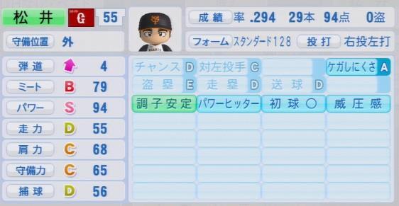 実況パワフルプロ野球2016 OBペナント 松井秀喜