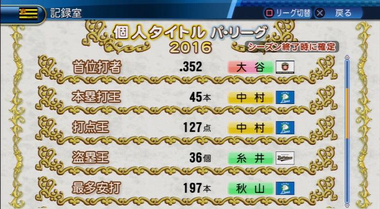 実況パワフルプロ野球2016アップデートver1.03
