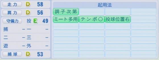 実況パワフルプロ野球2016ver1.03 和田 毅