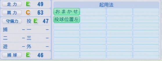実況パワフルプロ野球2016ver1.03中田 賢一
