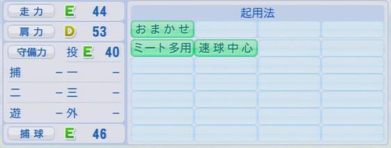 実況パワフルプロ野球2016ver1.03小澤 怜史
