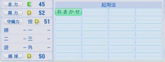 実況パワフルプロ野球2016ver1.03嘉弥真 新也