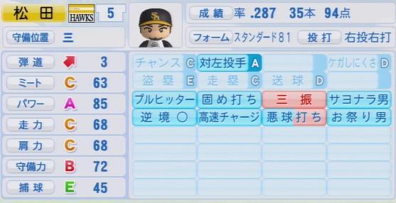 実況パワフルプロ野球2016ver1.03松田 宣浩