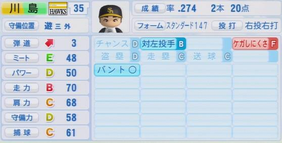 実況パワフルプロ野球2016ver1.03川島 慶三