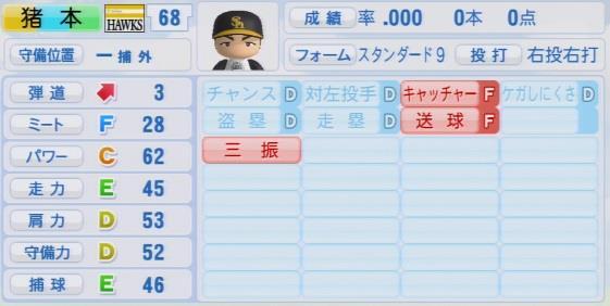 実況パワフルプロ野球2016ver1.03猪本 健太郎
