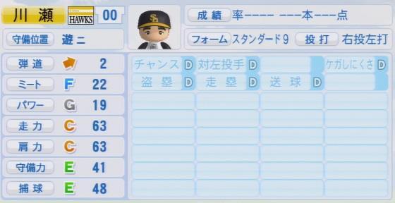 実況パワフルプロ野球2016ver1.03川瀬 晃