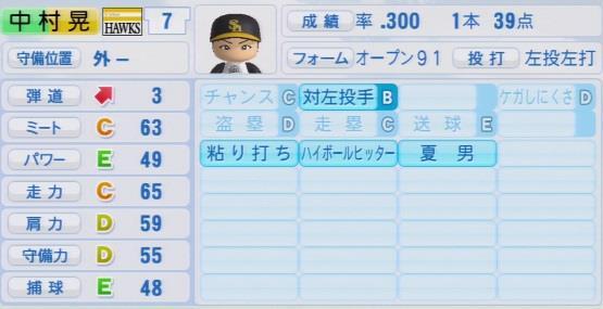 実況パワフルプロ野球2016ver1.03中村 晃