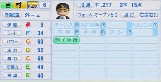 実況パワフルプロ野球2016ver1.03吉村 裕基