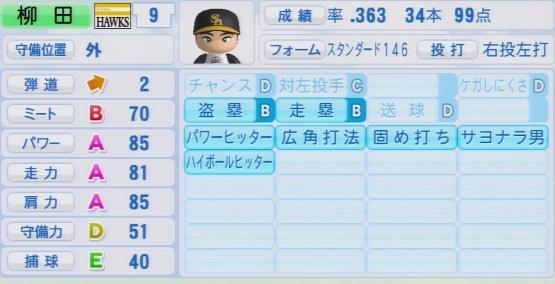 実況パワフルプロ野球2016ver1.03>柳田 悠岐