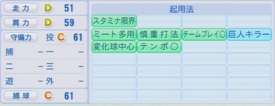実況パワフルプロ野球2016ver1.03石川 雅規