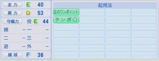 実況パワフルプロ野球2016ver1.03久古 健太郎