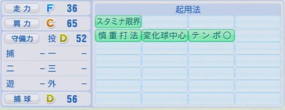 実況パワフルプロ野球2016ver1.03館山 昌平