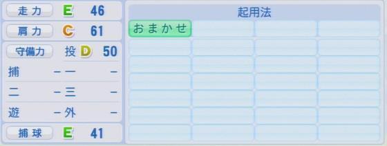 実況パワフルプロ野球2016ver1.03杉浦 稔大