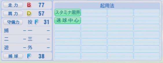 実況パワフルプロ野球2016ver1.03八木 亮祐