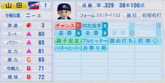実況パワフルプロ野球2016ver1.03山田 哲人