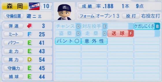 実況パワフルプロ野球2016ver1.03森岡 良介