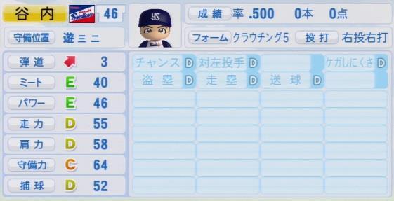 実況パワフルプロ野球2016ver1.03谷内 亮太