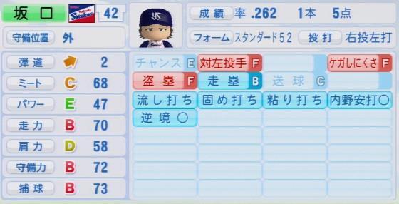実況パワフルプロ野球2016ver1.03坂口 智隆
