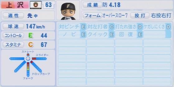 実況パワフルプロ野球2016ver1.03上沢 直之パワプロ