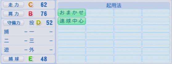 実況パワフルプロ野球2016ver1.03白村 明弘パワプロ