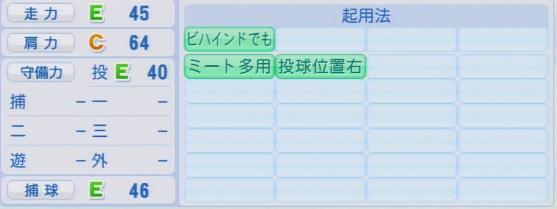実況パワフルプロ野球2016ver1.03石井 裕也パワプロ