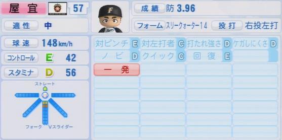 実況パワフルプロ野球2016ver1.03屋宜 照悟パワプロ