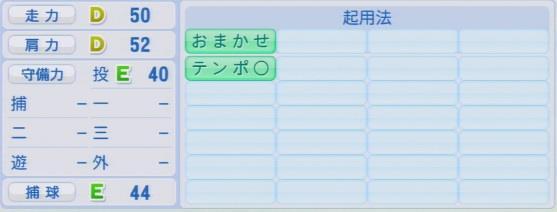 実況パワフルプロ野球2016ver1.03金平 将至パワプロ