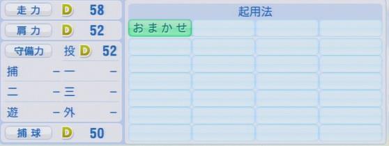 実況パワフルプロ野球2016ver1.03瀬川 隼郎パワプロ