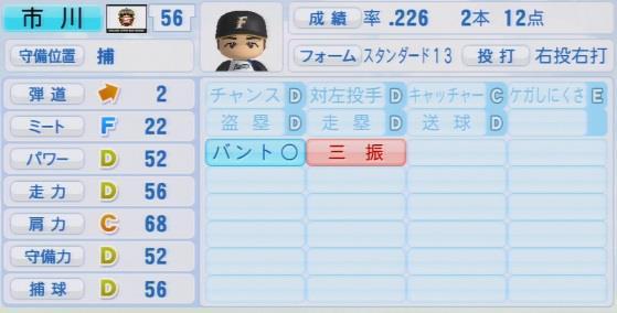 実況パワフルプロ野球2016ver1.03市川 友也パワプロ