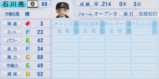 実況パワフルプロ野球2016ver1.03石川 亮パワプロ