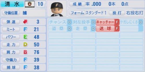 実況パワフルプロ野球2016ver1.03清水 優心パワプロ