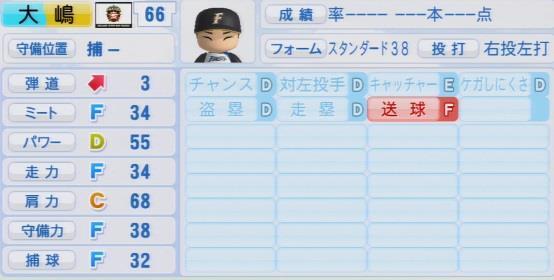 実況パワフルプロ野球2016ver1.03大嶋 匠パワプロ