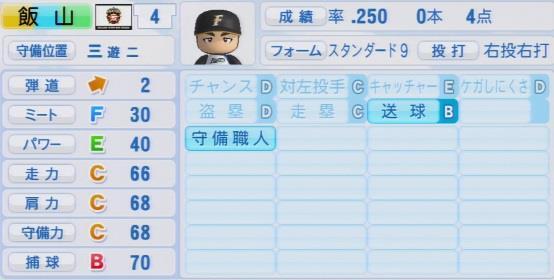 実況パワフルプロ野球2016ver1.03飯山 裕志パワプロ